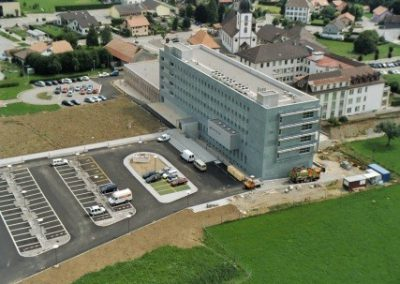 Bâtiment d'imagerie médicale II à Riaz